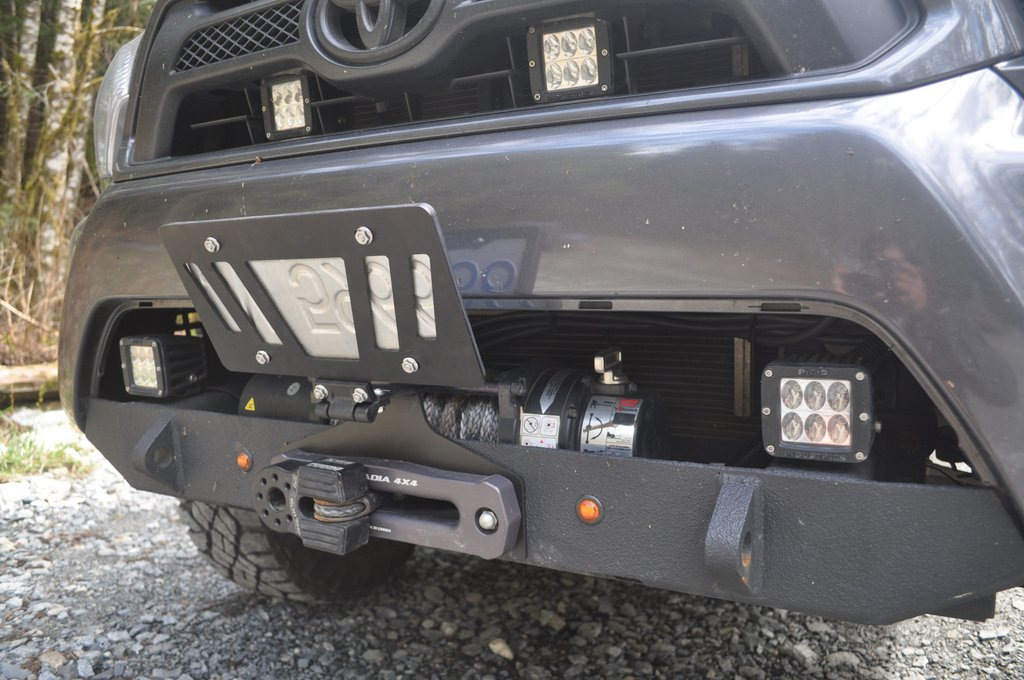 Removable License Plate Holder For Winch Toyota Fj