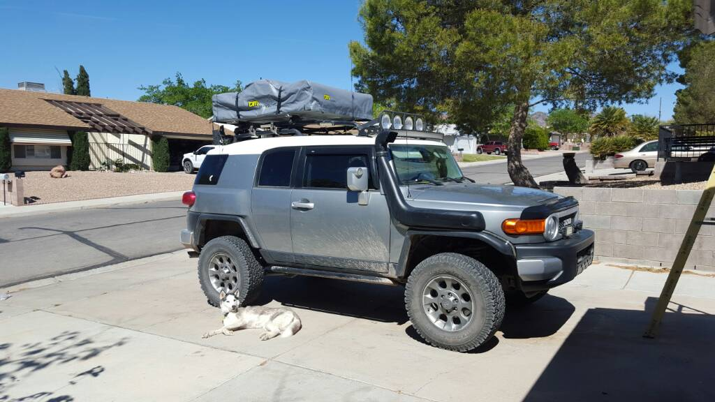 Click image for larger version Name 1459615183250.jpg Views 1510 Size 89.9 & Roof Top Tent on OEM Rack? - Page 2 - Toyota FJ Cruiser Forum