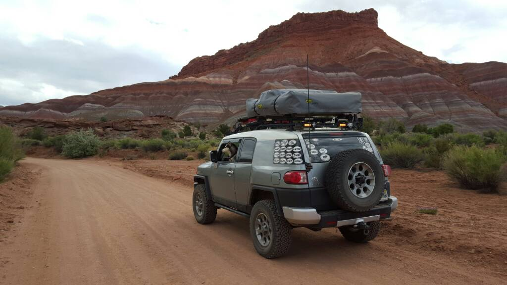 Click image for larger version Name 1466220007613.jpg Views 2336 Size 65.0 ... & Roof Top Tent for OEM Rack - Toyota FJ Cruiser Forum