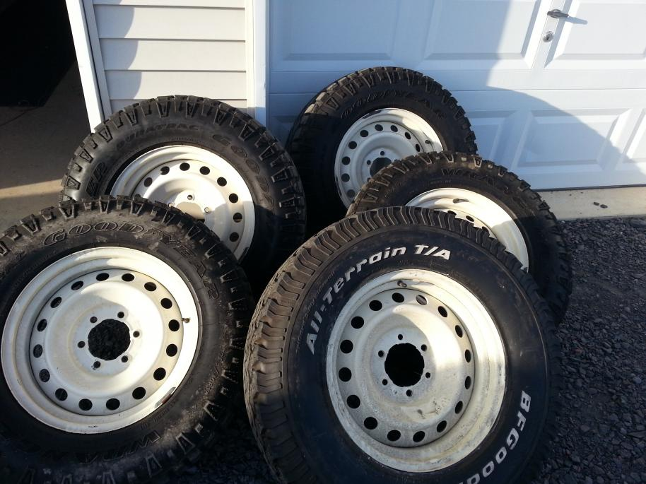 5 Oem Steel Wheels With Tires For Sale 845 Ny Toyota Fj