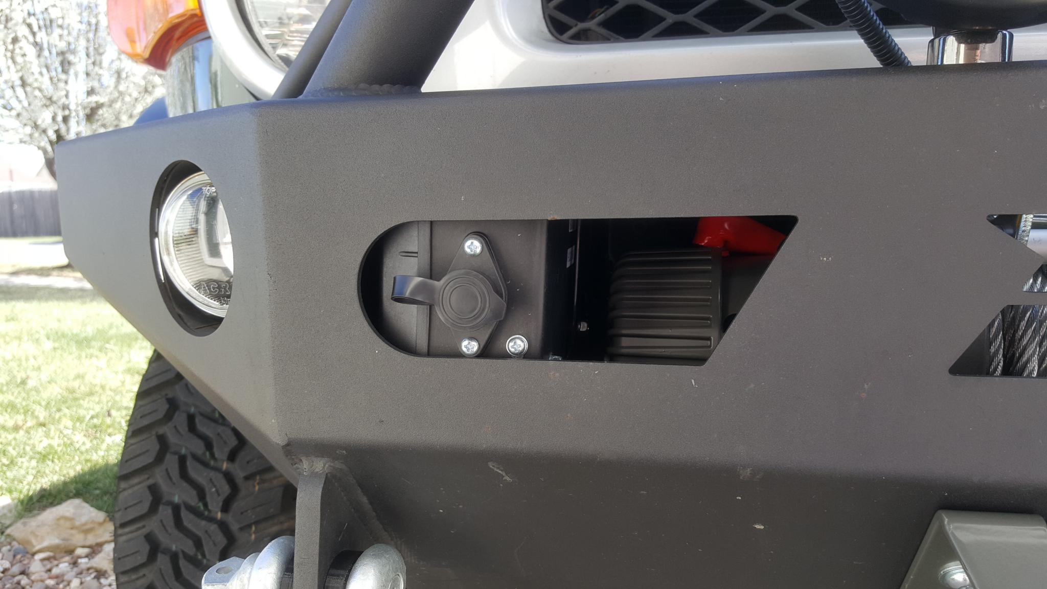 Badlands winch in a Demello bumper - Toyota FJ Cruiser Forum