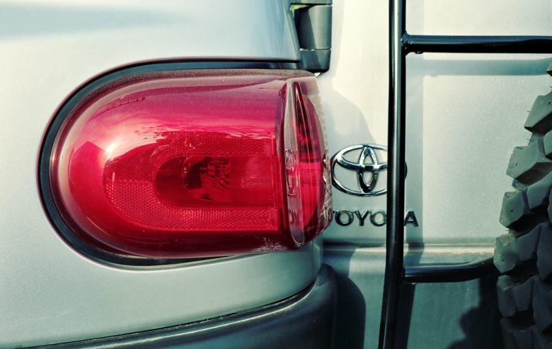 Tail Light Guards With A Rear Door Ladder Toyota Fj