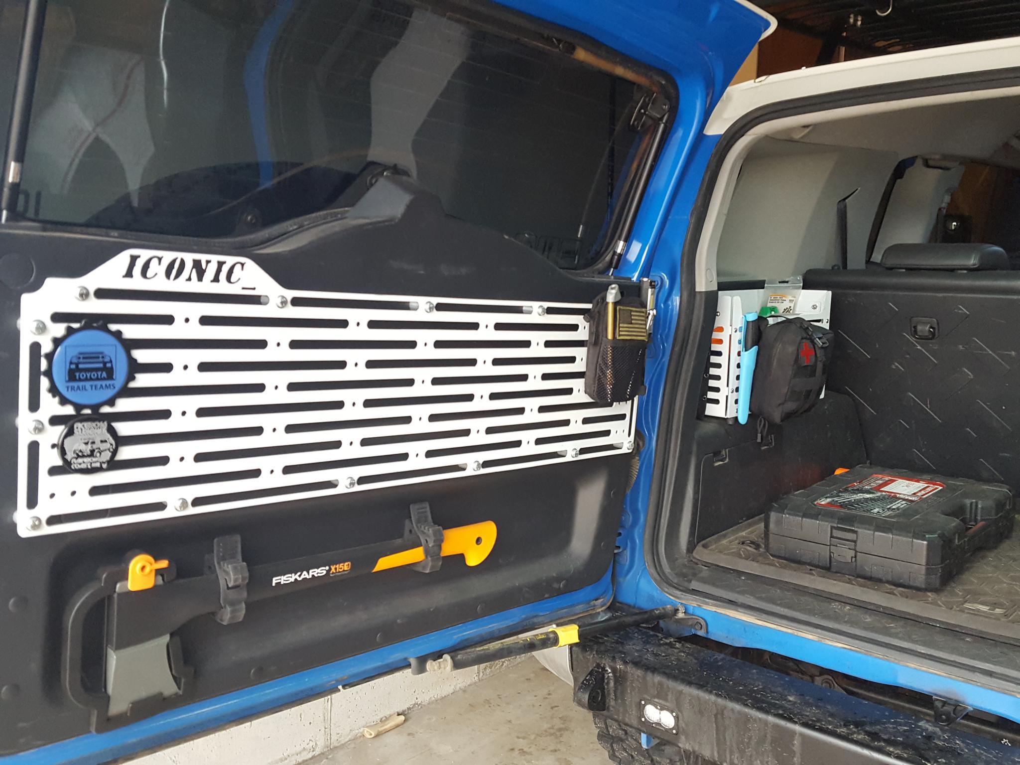 Rear Door And Cargo Area Storage Ideas Toyota Fj Cruiser Forum