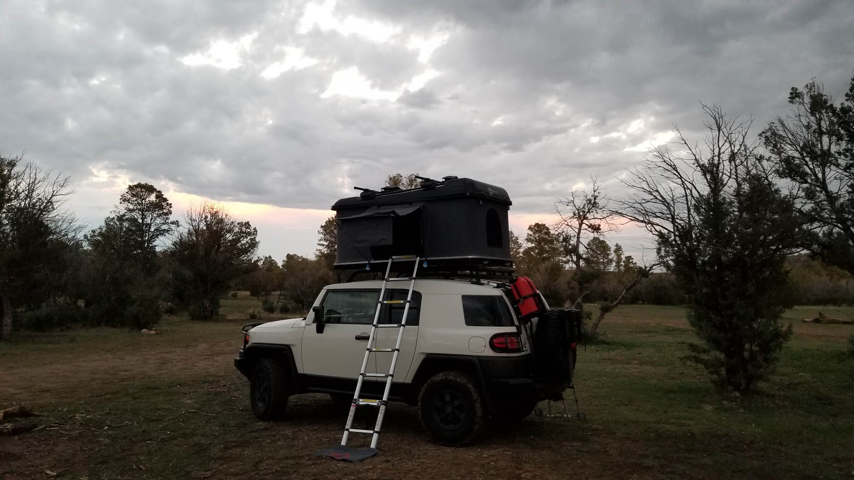 Stock Roof Rack With Roof Top Tents Toyota Fj Cruiser Forum