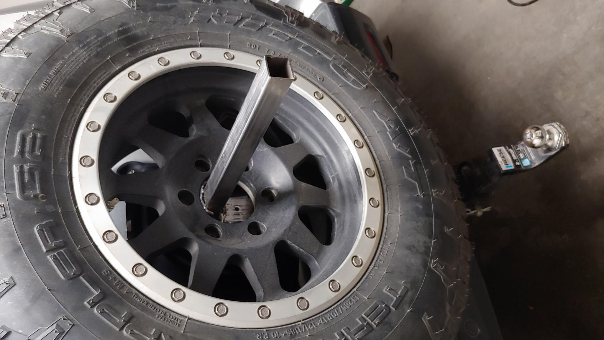 Making My Own Spare Tire Jerry Can Holder Toyota Fj