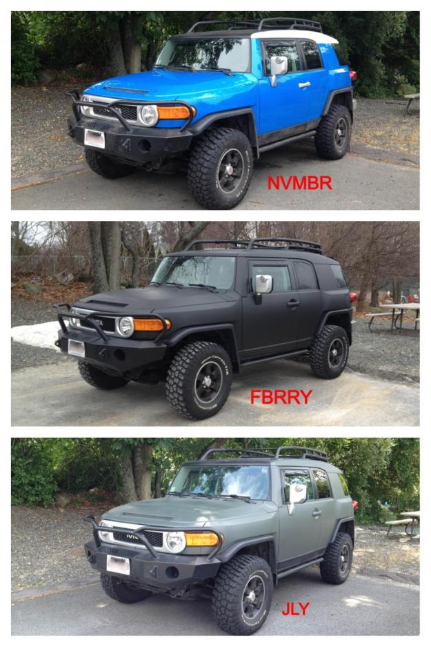 plasti dip before and after page 95 toyota fj cruiser forum. Black Bedroom Furniture Sets. Home Design Ideas