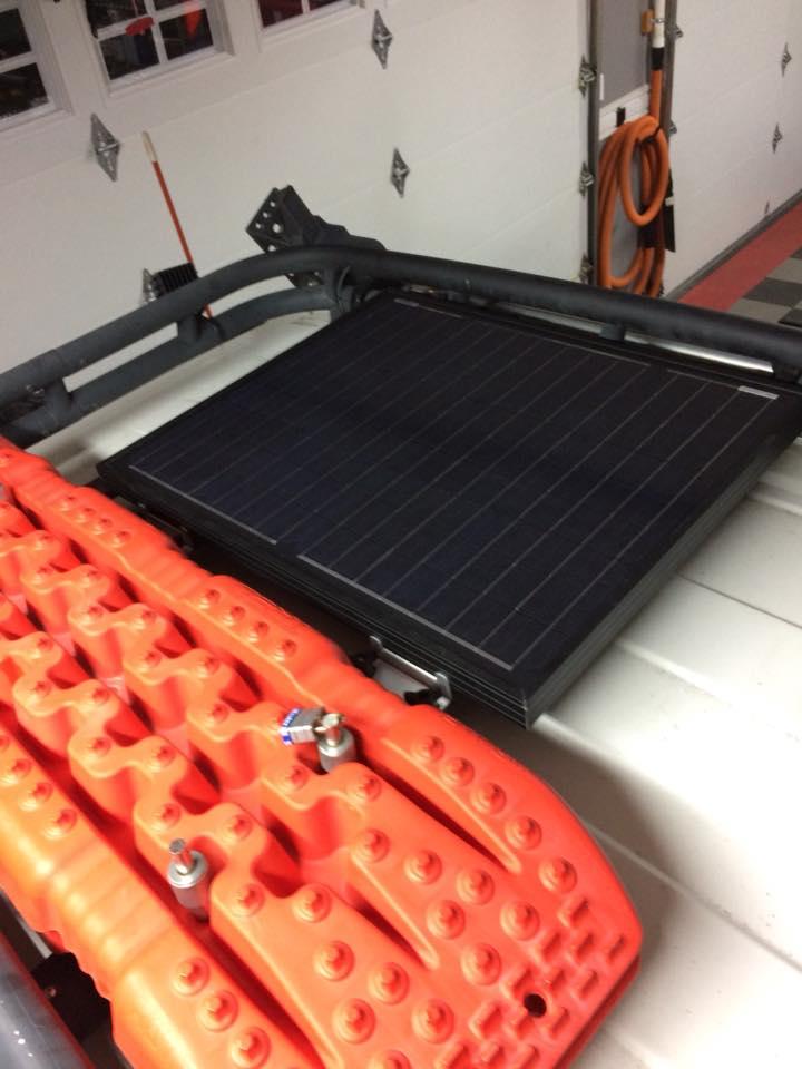 50w Solar Panel Mounted On Roof Rack Toyota Fj Cruiser Forum