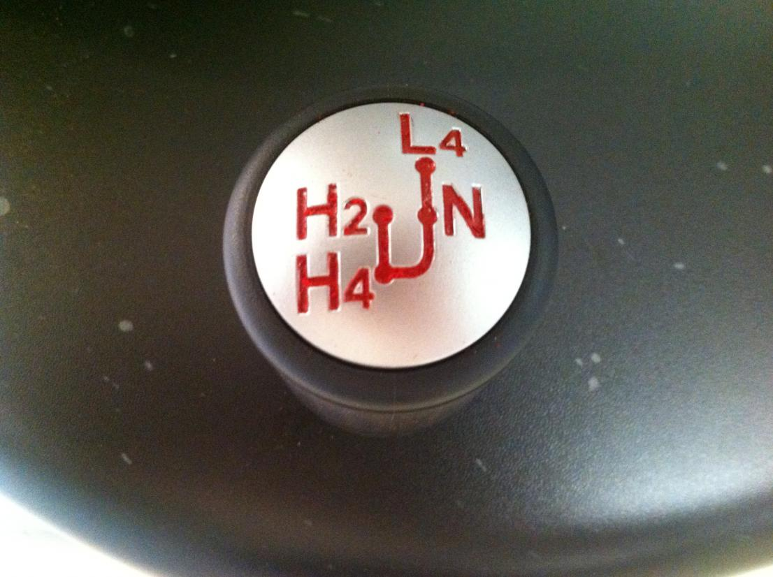 Plasti Dip Spray Paint Grille Transfer Case Shifter