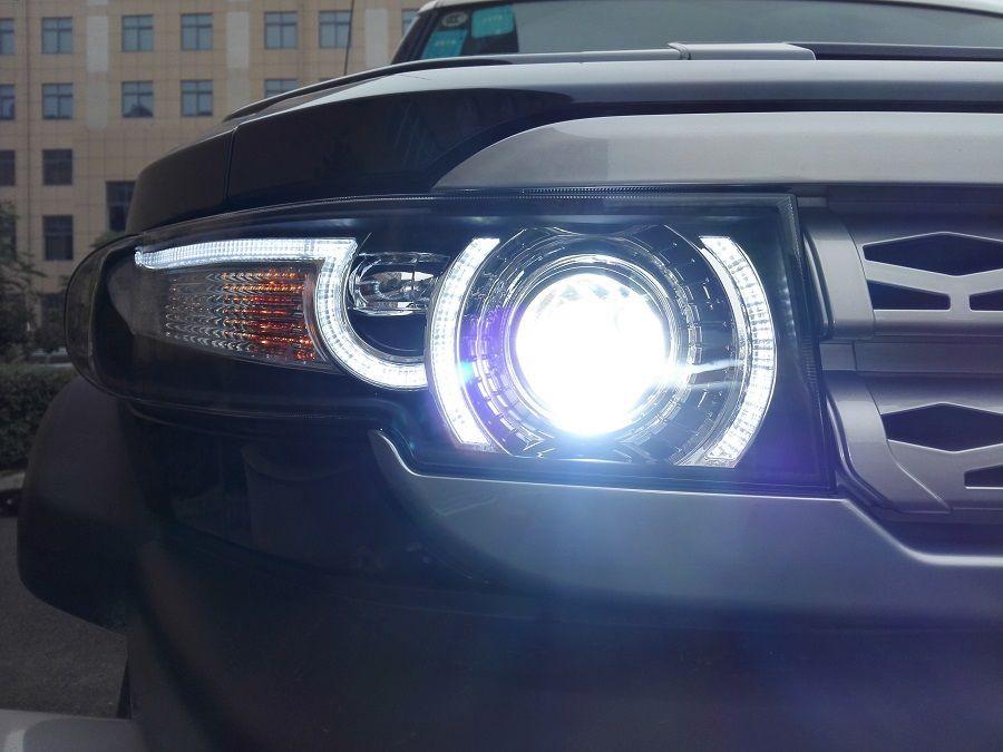 New Headlight Design For Fj Cruiser Dual Halo Led