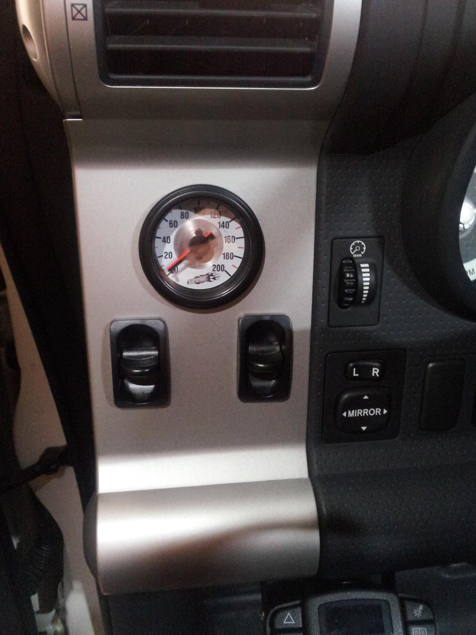 Airbag Dual Controller W Gauge Installed Toyota Fj