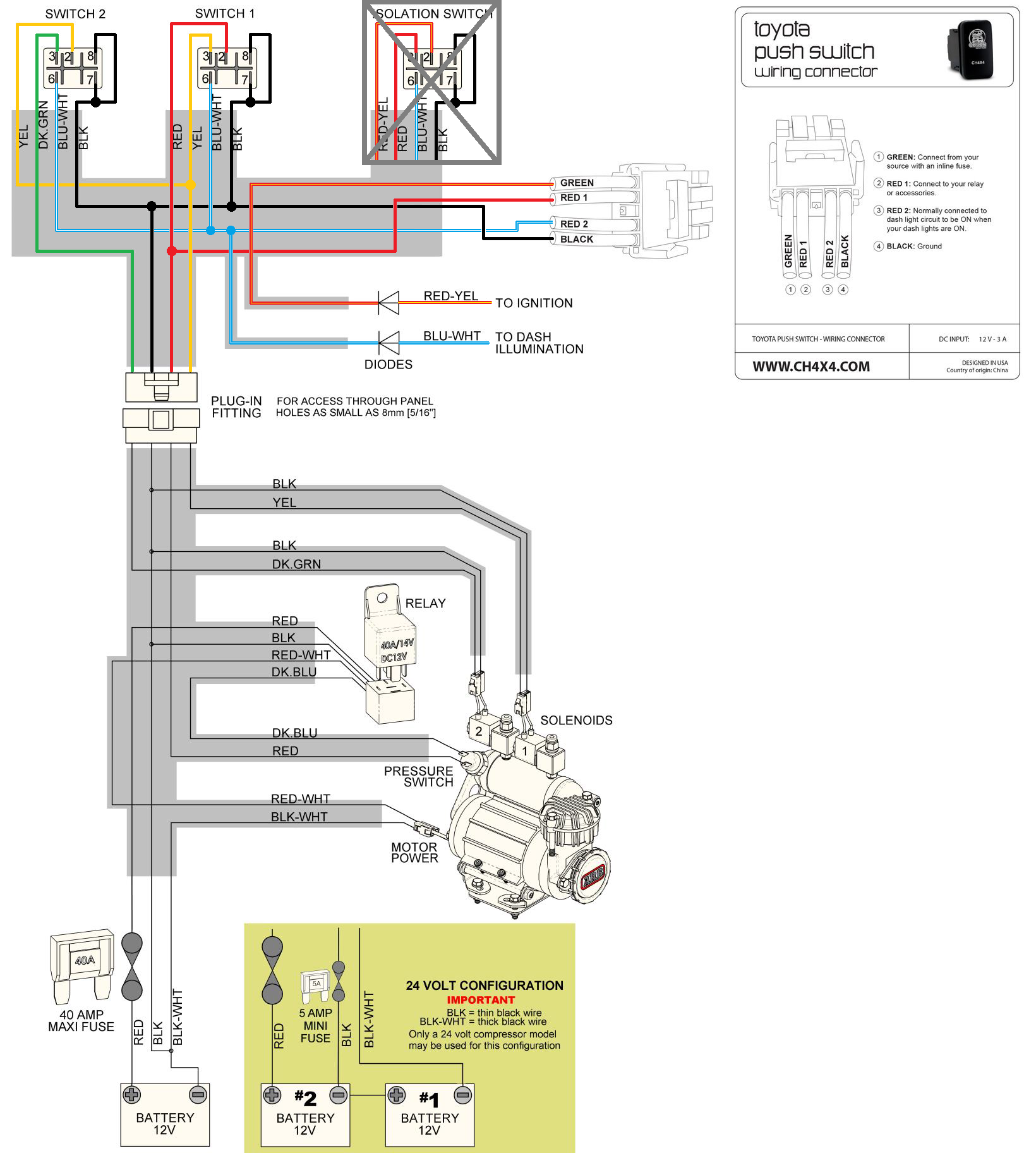 wiring arb compressor switch wiring diagrams rigid industries switch wiring  diagram arb ckma12 engine install toyota