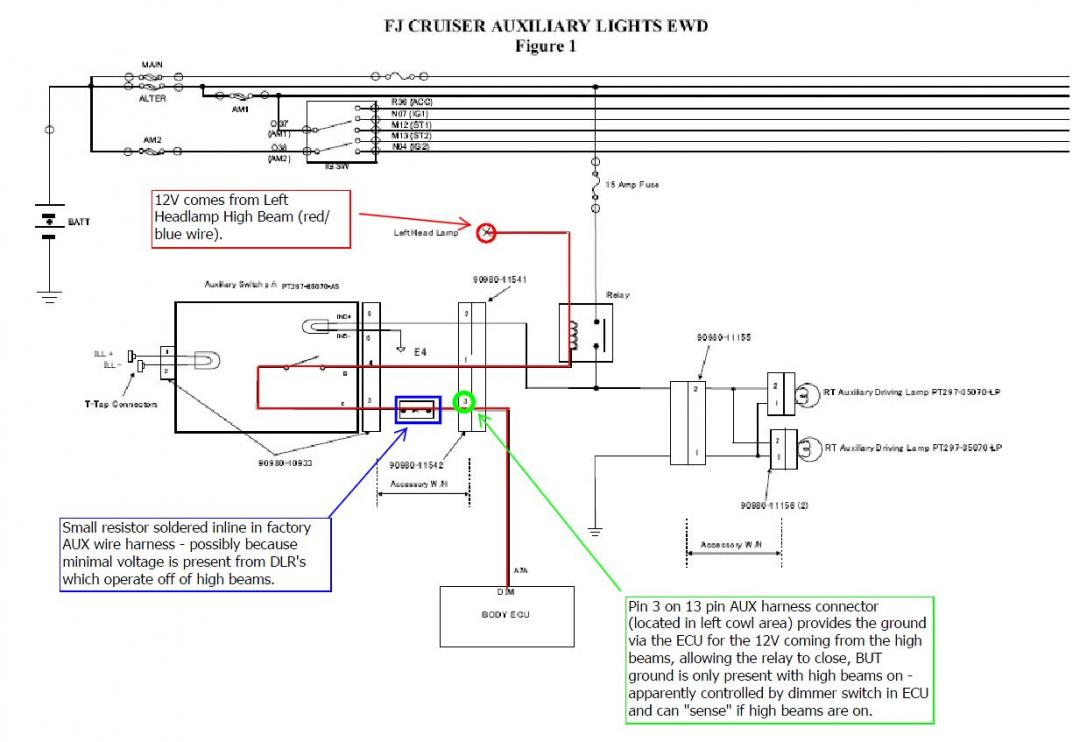 auxiliary lights assistance toyota fj cruiser forum rh fjcruiserforums com Photography Lighting Diagrams 277 Volt Lighting Diagram