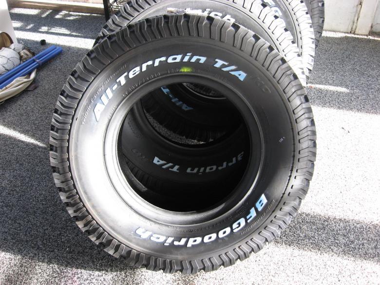 4 New BF Goodrich All-Terrain T/A KO LT265 75 16 - Toyota FJ ...