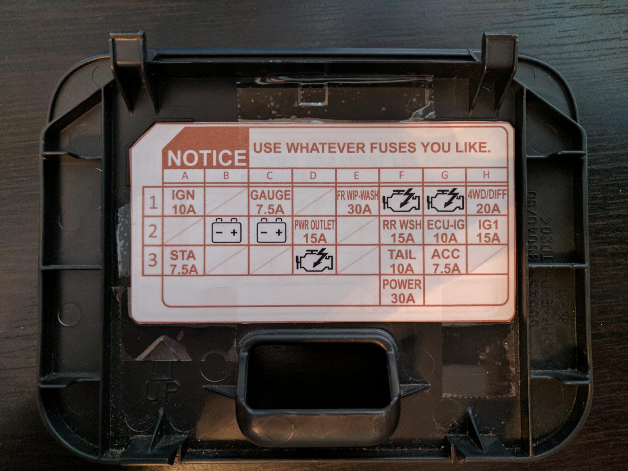 [SCHEMATICS_48YU]  Cabin Fuse Box Map | Toyota FJ Cruiser Forum | 2007 Toyota Fj Cruiser Fuse Box Diagram |  | Toyota FJ Cruiser Forum