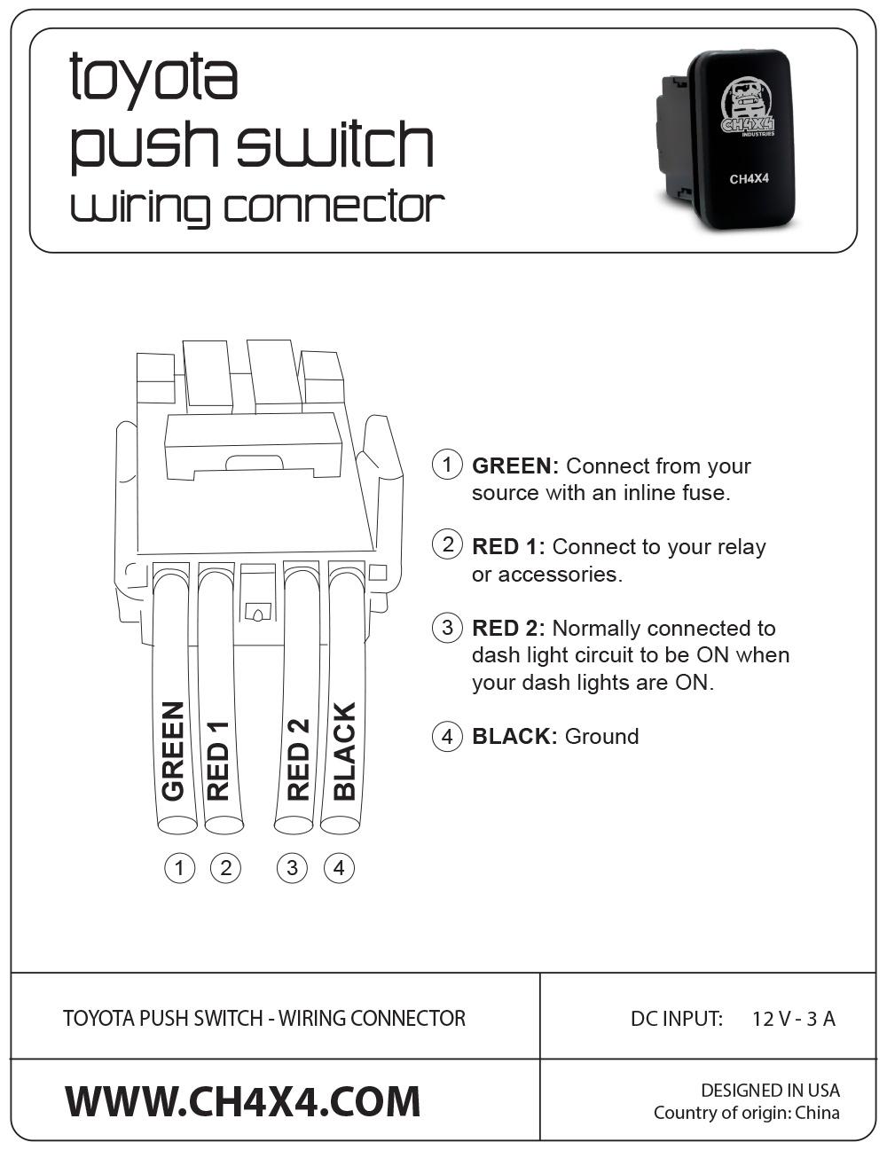 Wiring SPOD to CH4x4 Toyota Push Button Switches | Toyota FJ Cruiser Forum | Spod Se Wiring Diagram |  | Toyota FJ Cruiser Forum