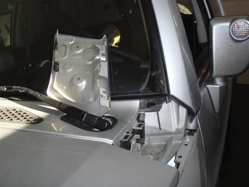 Body Part Near Hood Flew Off While Driving Toyota Fj