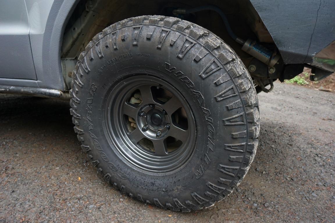 "GoodYear Wrangler Duratrac 35"" Tires - 315/75R16 on Konig ..."