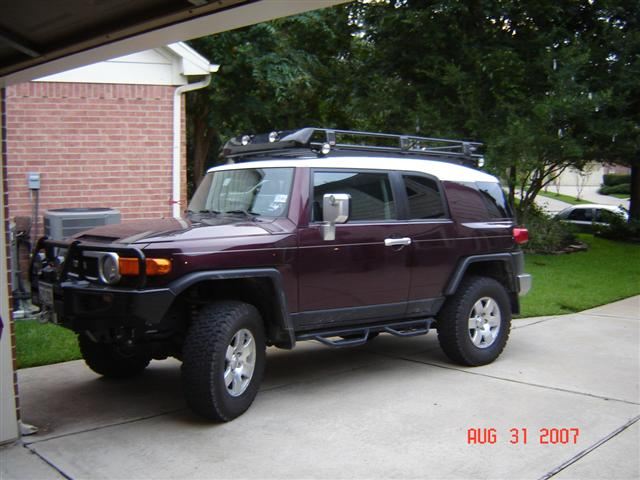 JPG Views 1277 Click image for larger version Name DSC00851 (Small).JPG Views 5166 & ARB Roof Rack Wind Deflector Installed - Toyota FJ Cruiser Forum