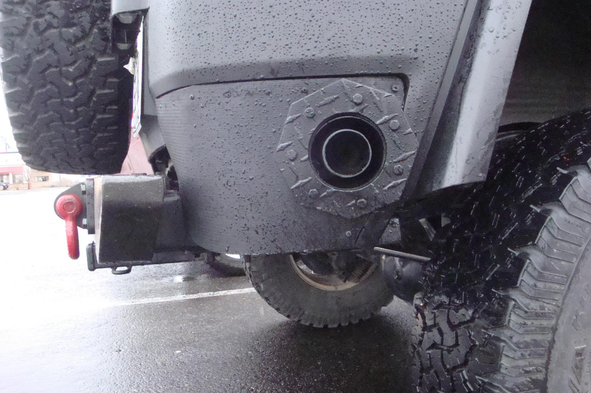 Diy Exhaust Thru Rear Qtr Panel Toyota Fj Cruiser Forum