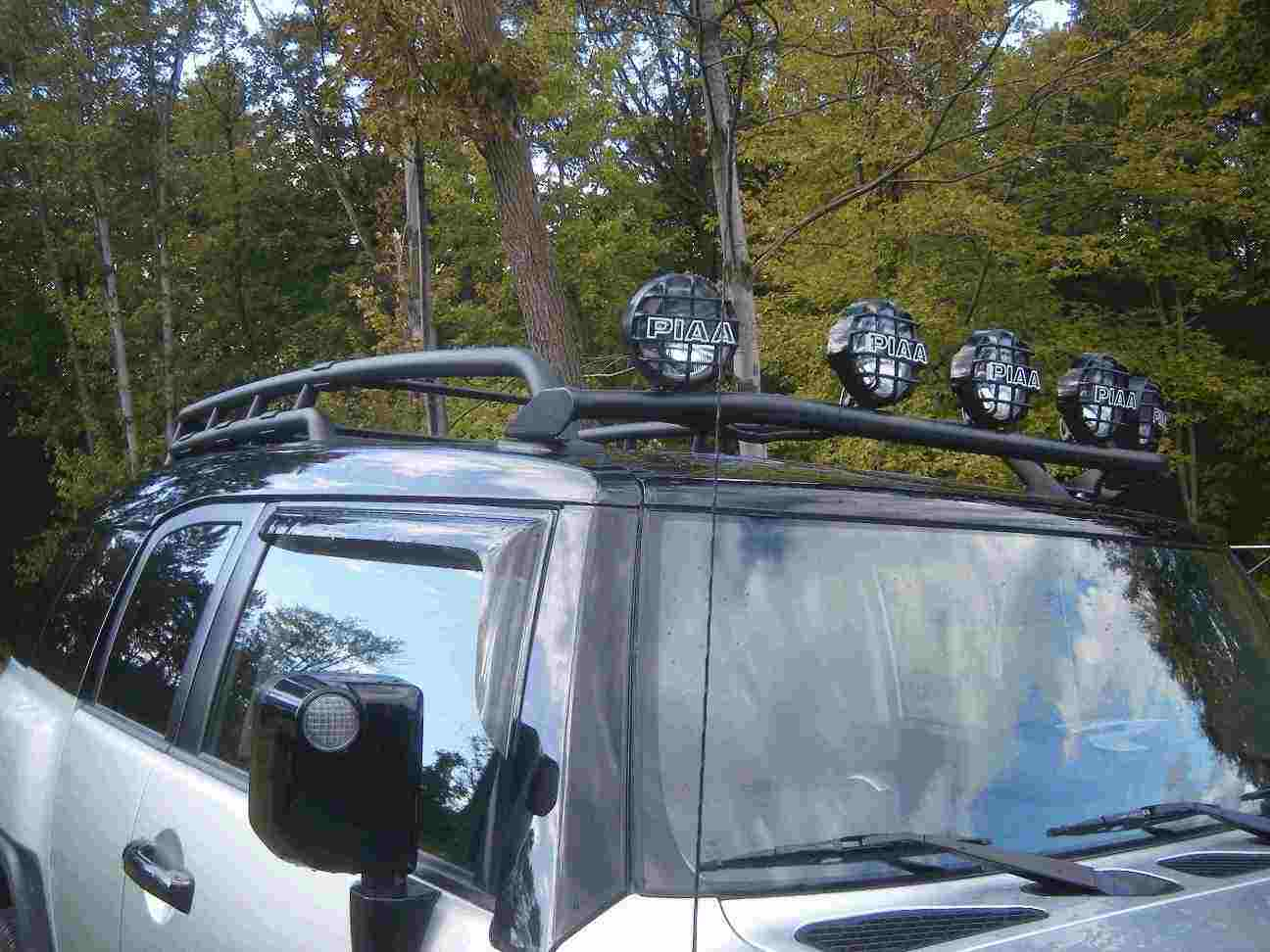 Light Bar On Front W Factory Roof Rack Toyota Fj