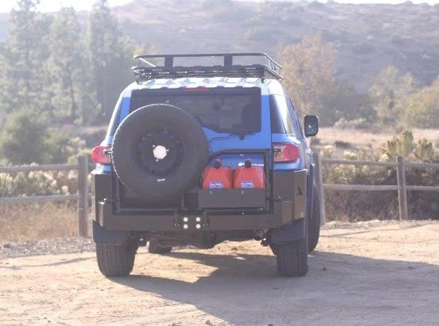 Aluminum Fj Cruiser Bumpers : New aluminum fj rear bumper and roof rack toyota