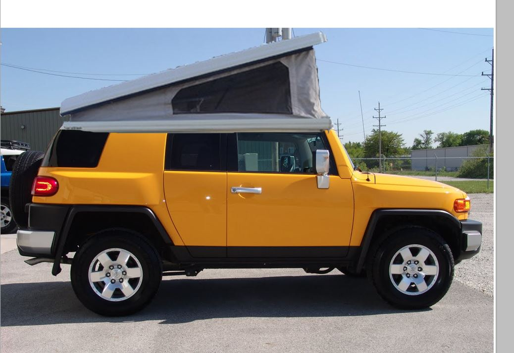 Click image for larger version Name fj with top open.JPG Views 1663 & Vanagon type of pop up tent - Toyota FJ Cruiser Forum