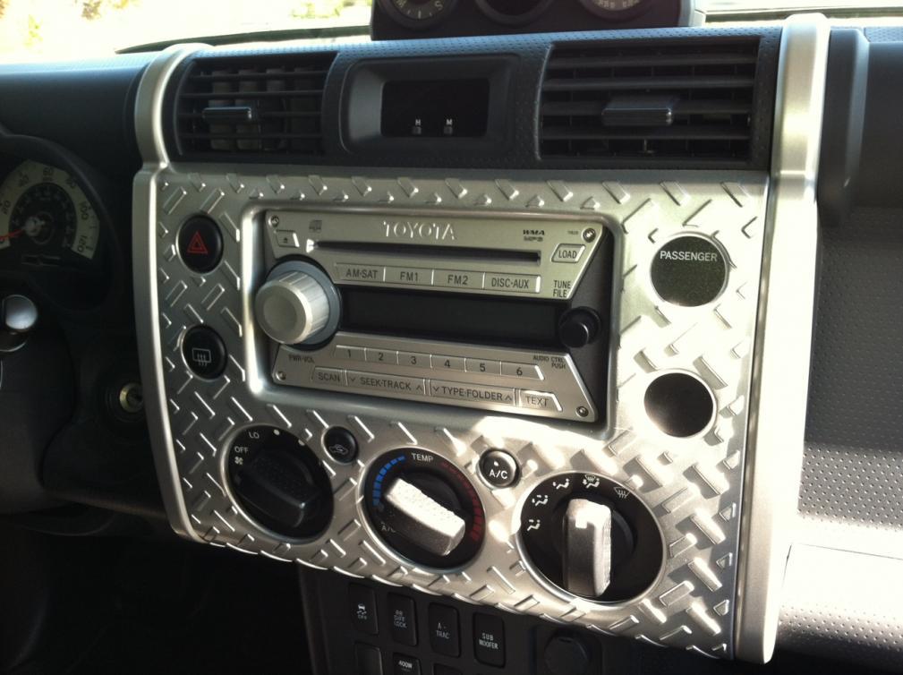 Click image for larger version Name FJ1.jpg Views 2585 Size 88.8 ... & Diamond Plate (Plastic) Interior - Toyota FJ Cruiser Forum
