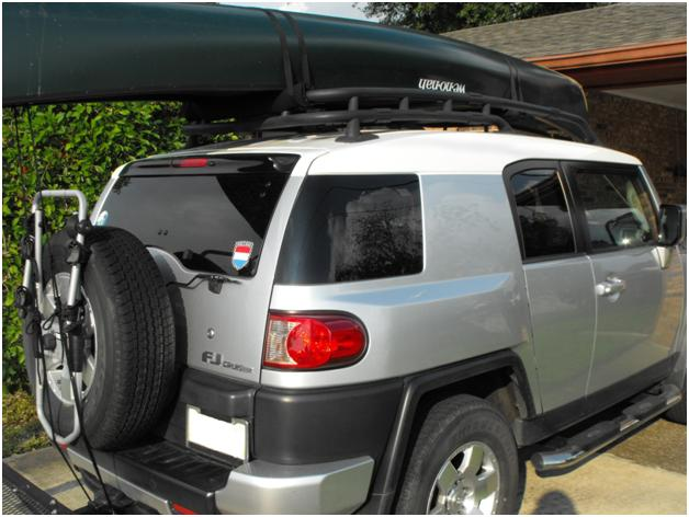 Transporting Your Canoe Or Kayak And Bikes Toyota Fj