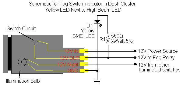20060d1202005121 fog light indicator light dash inst w pics fog_led_schematic fog light indicator light in dash inst w pics toyota fj yaris fog lights wiring diagram at bayanpartner.co