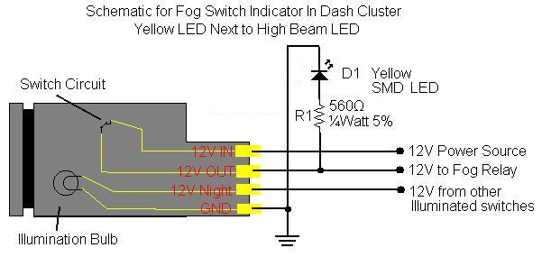 fog light wiring diagram toyota fog image wiring diy fog light indicator in dash cluster toyota fj cruiser forum on fog light wiring diagram