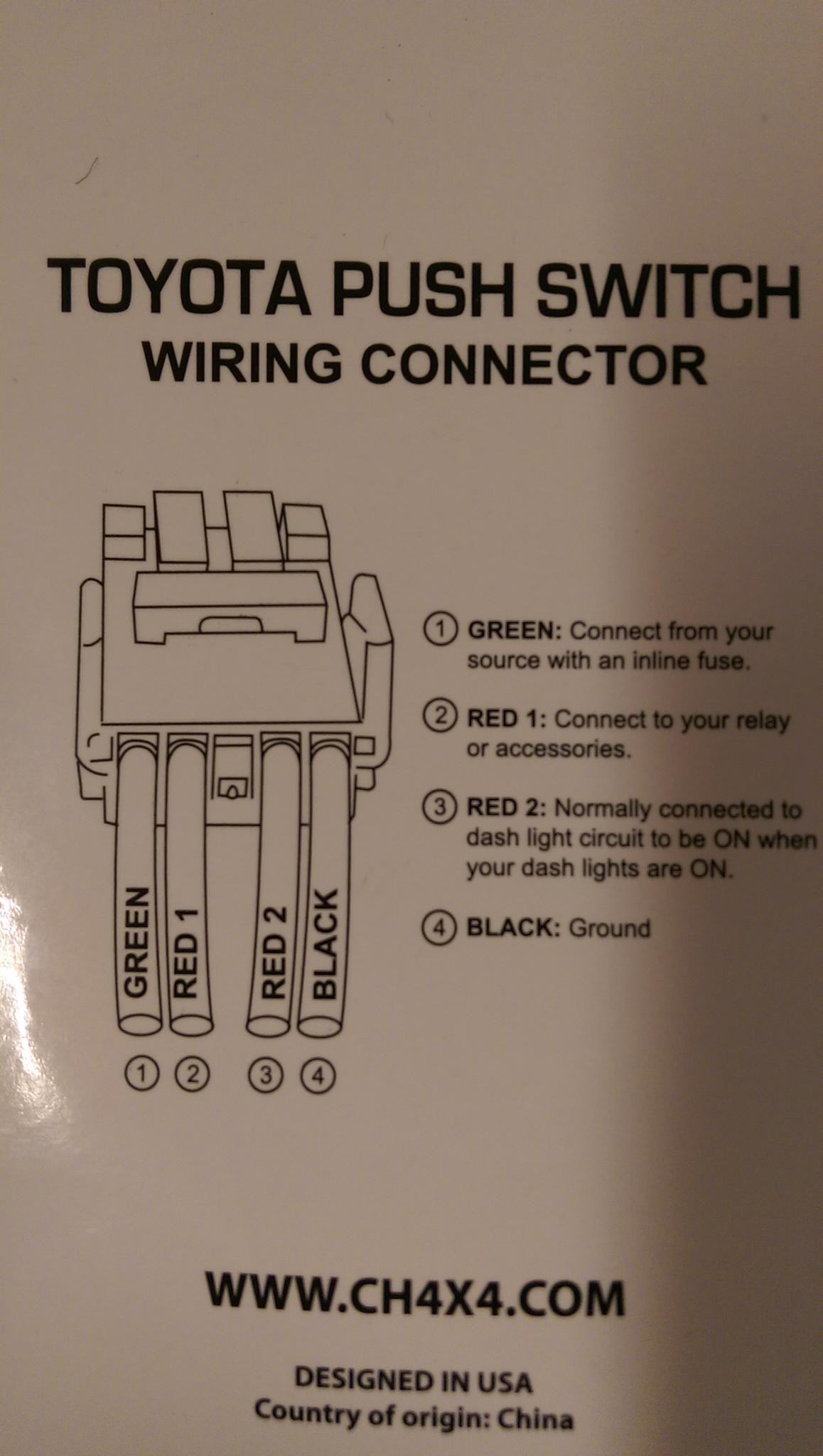Need Help Wiring A Led To A Push Button Switch