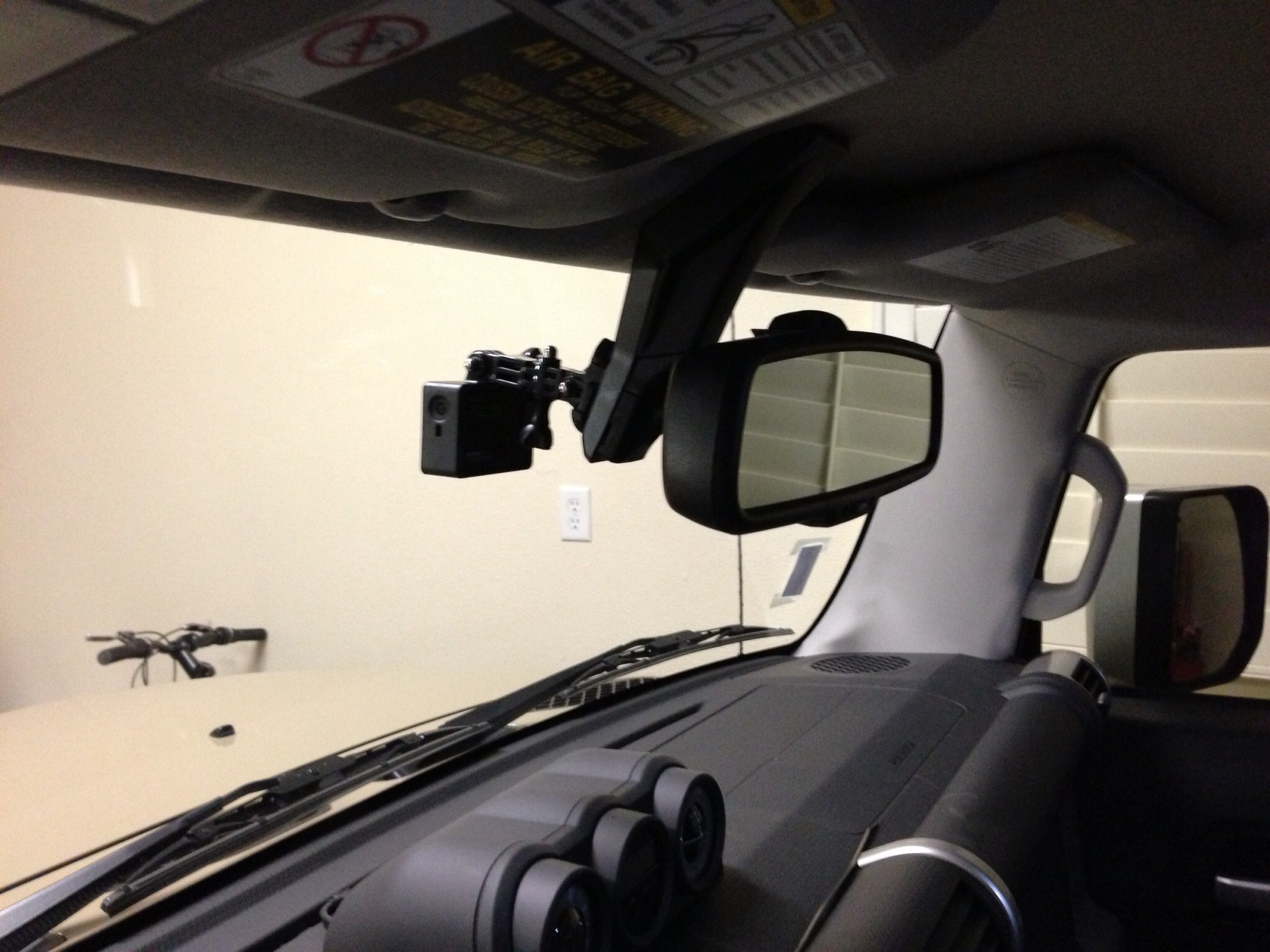 GoPro mounted on the Rear View Mirror - Toyota FJ Cruiser Forum