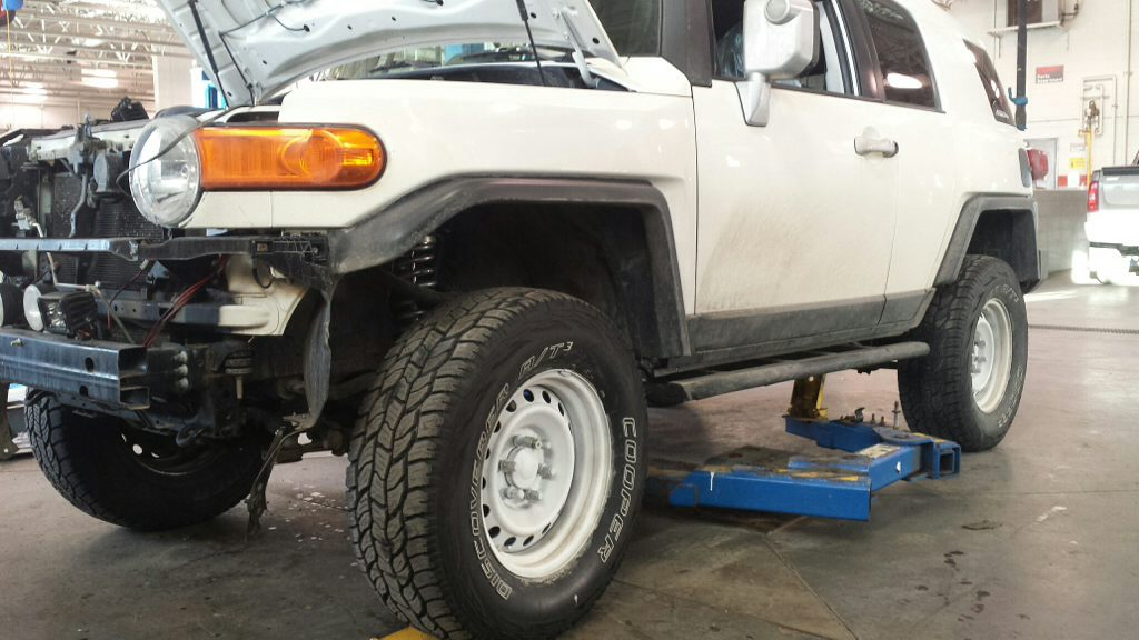 cooper 285 discoverer stt 70r17 installed toytec coils front tires fj snow toyota they cruiser imageuploadedbyag fjcruiserforums forums