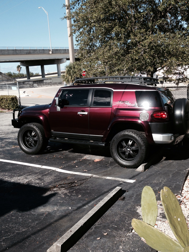Post Your Black Cherry Pics Page 8 Toyota Fj Cruiser