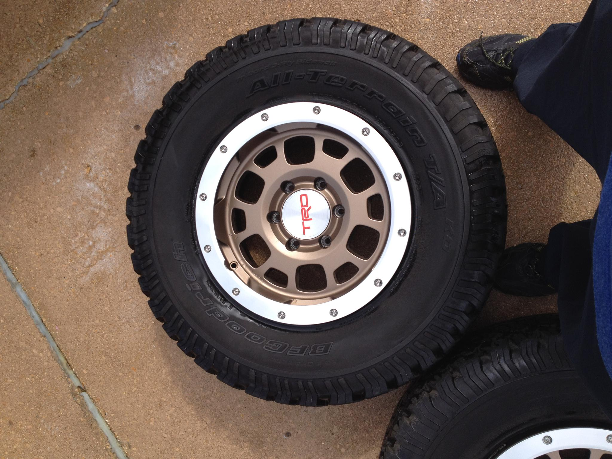 Toyota Of San Diego >> 5 Toyota FJ TRD wheels and All Terrain Tires For Sale ...
