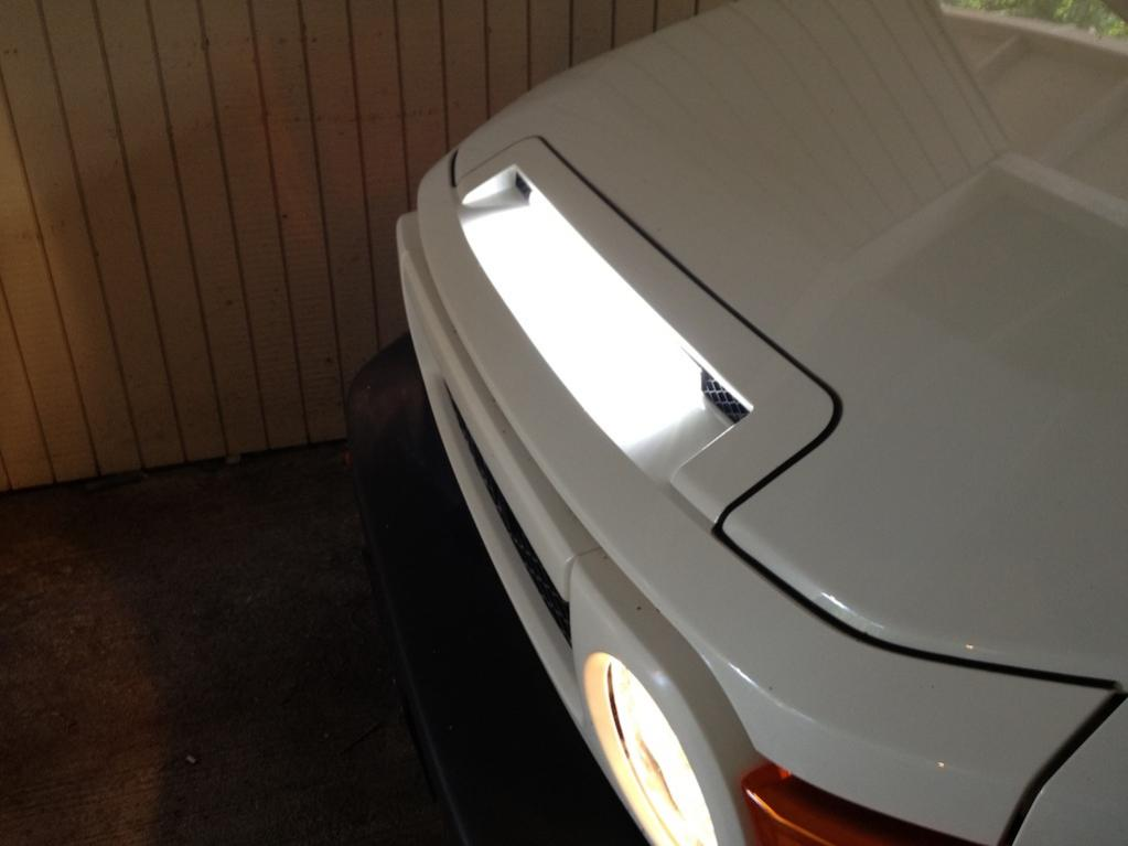 Hood Vent Led Light Bar Mod Complete Toyota Fj Cruiser