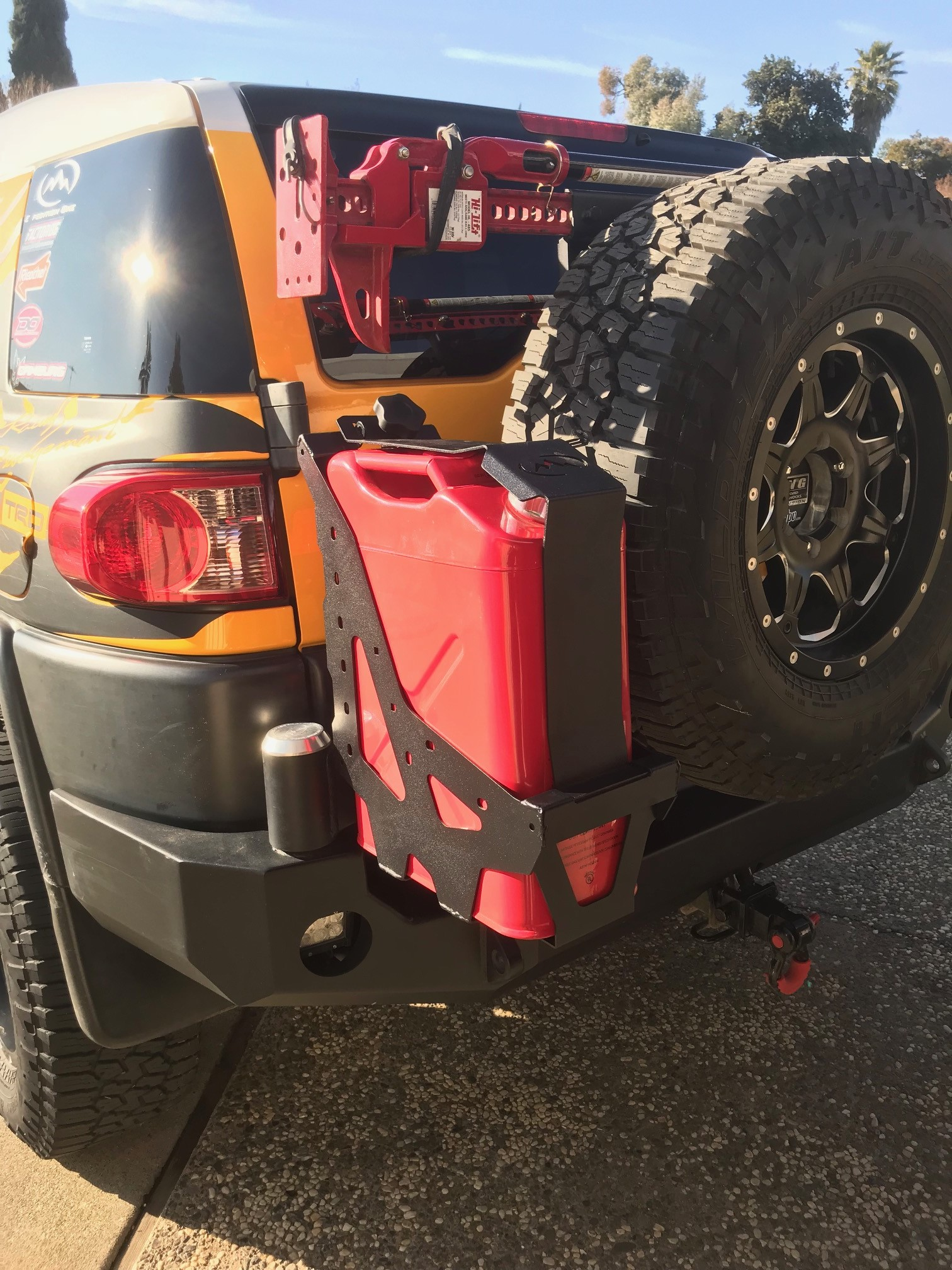 Nato Jerry Can Holder For Expedition One Swing Out Bumper