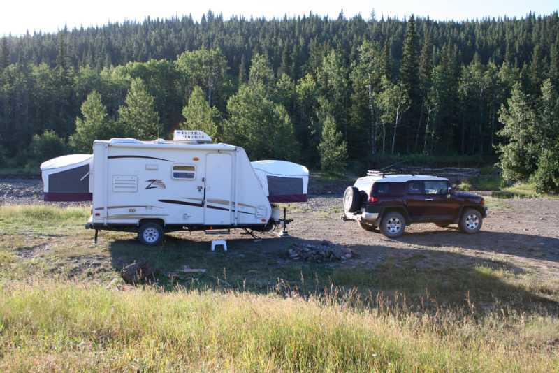 Camper Trailer Towing FJ Cruiser