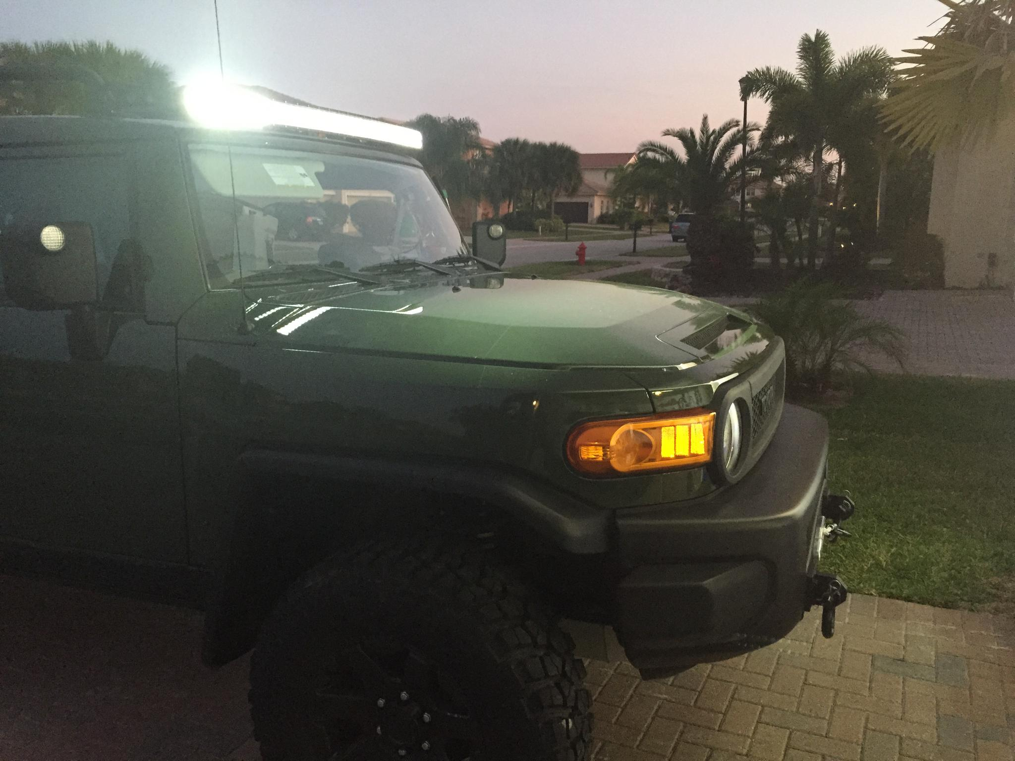 50 Quot Curved Led Light Bar Installed Toyota Fj Cruiser Forum