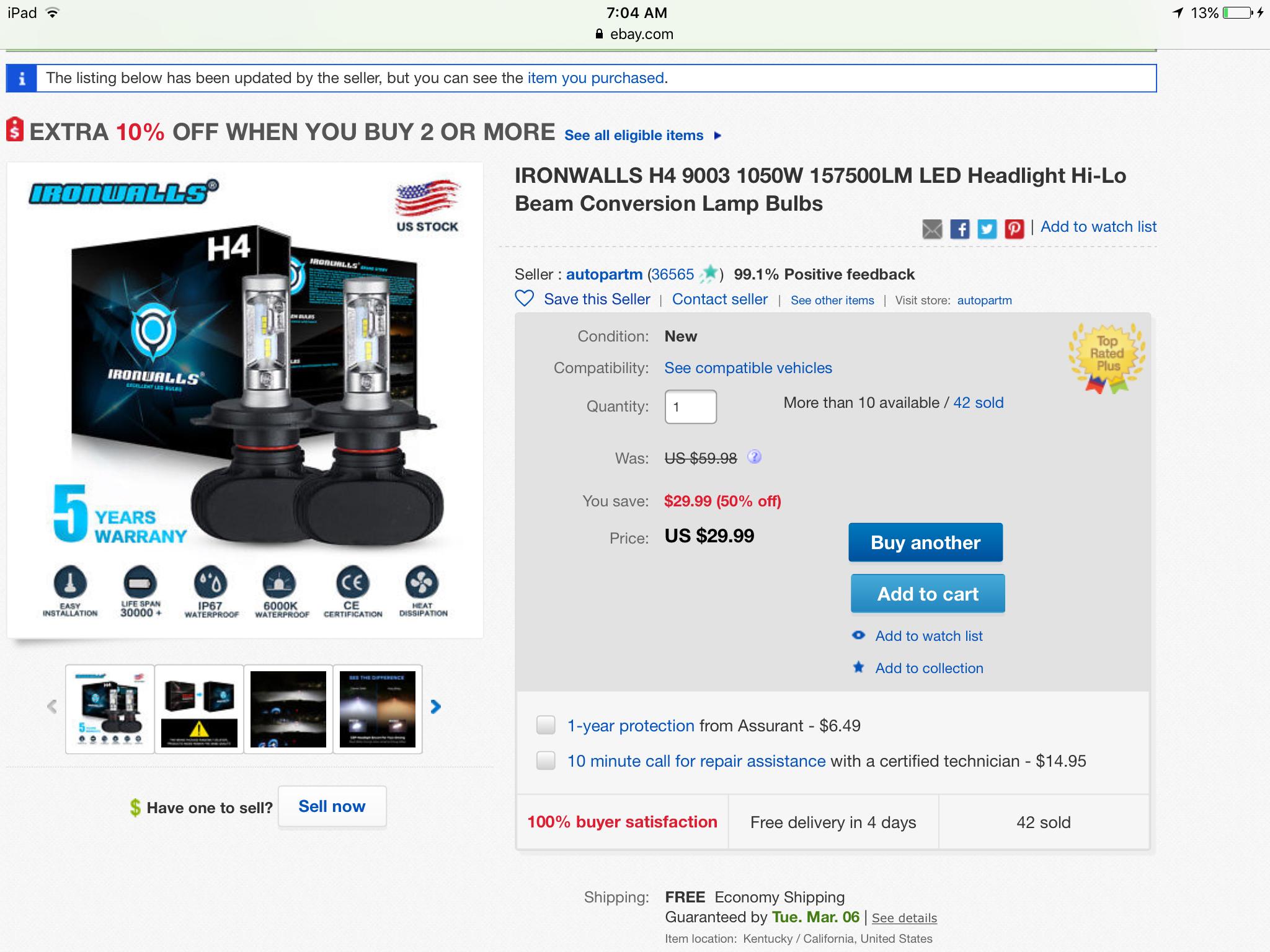 toyota fj cruiser forum view single post are led headlights worth it. Black Bedroom Furniture Sets. Home Design Ideas