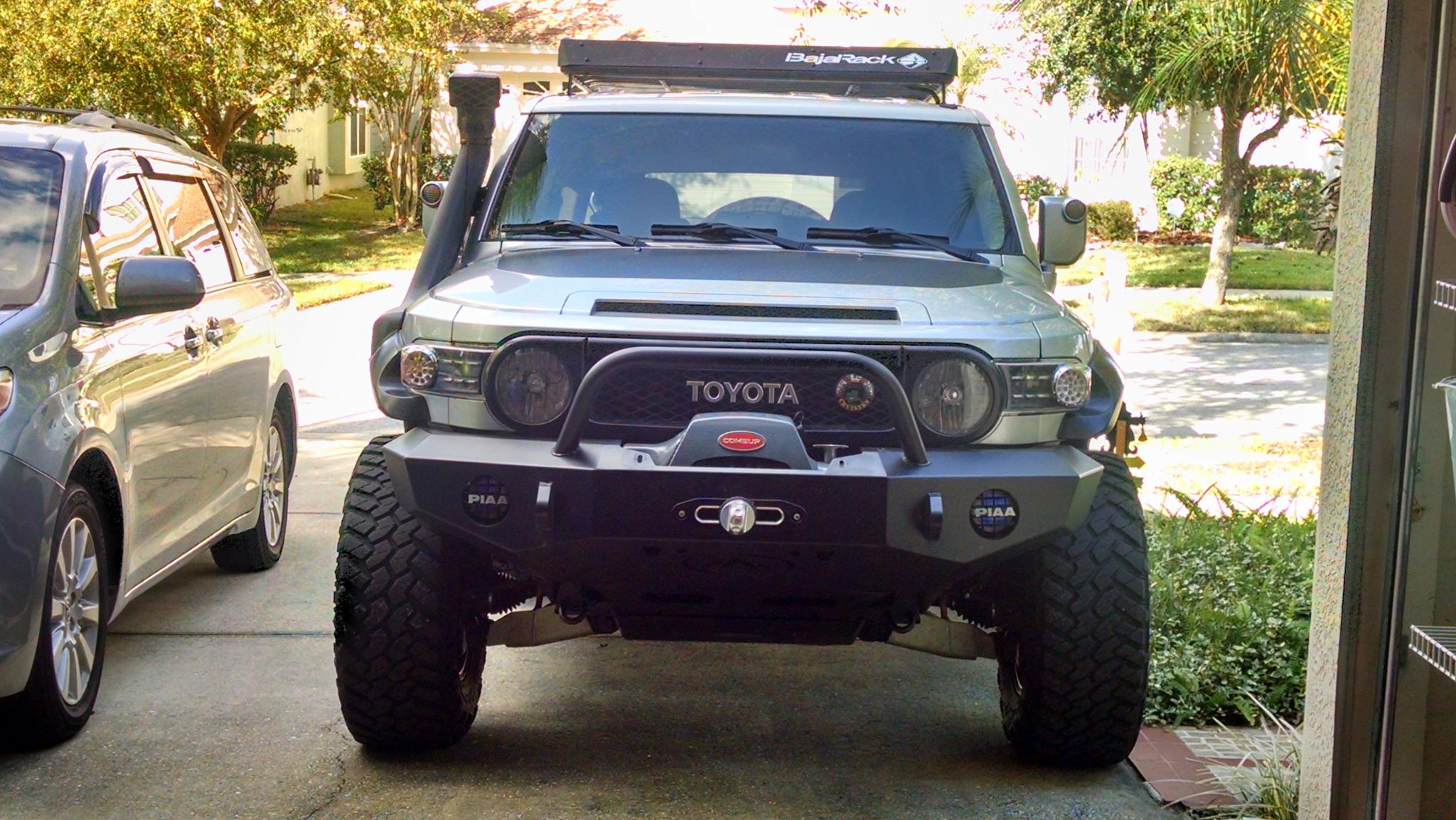 Expedition One Front Bumper with Come Up Winch For Sale  Toyota