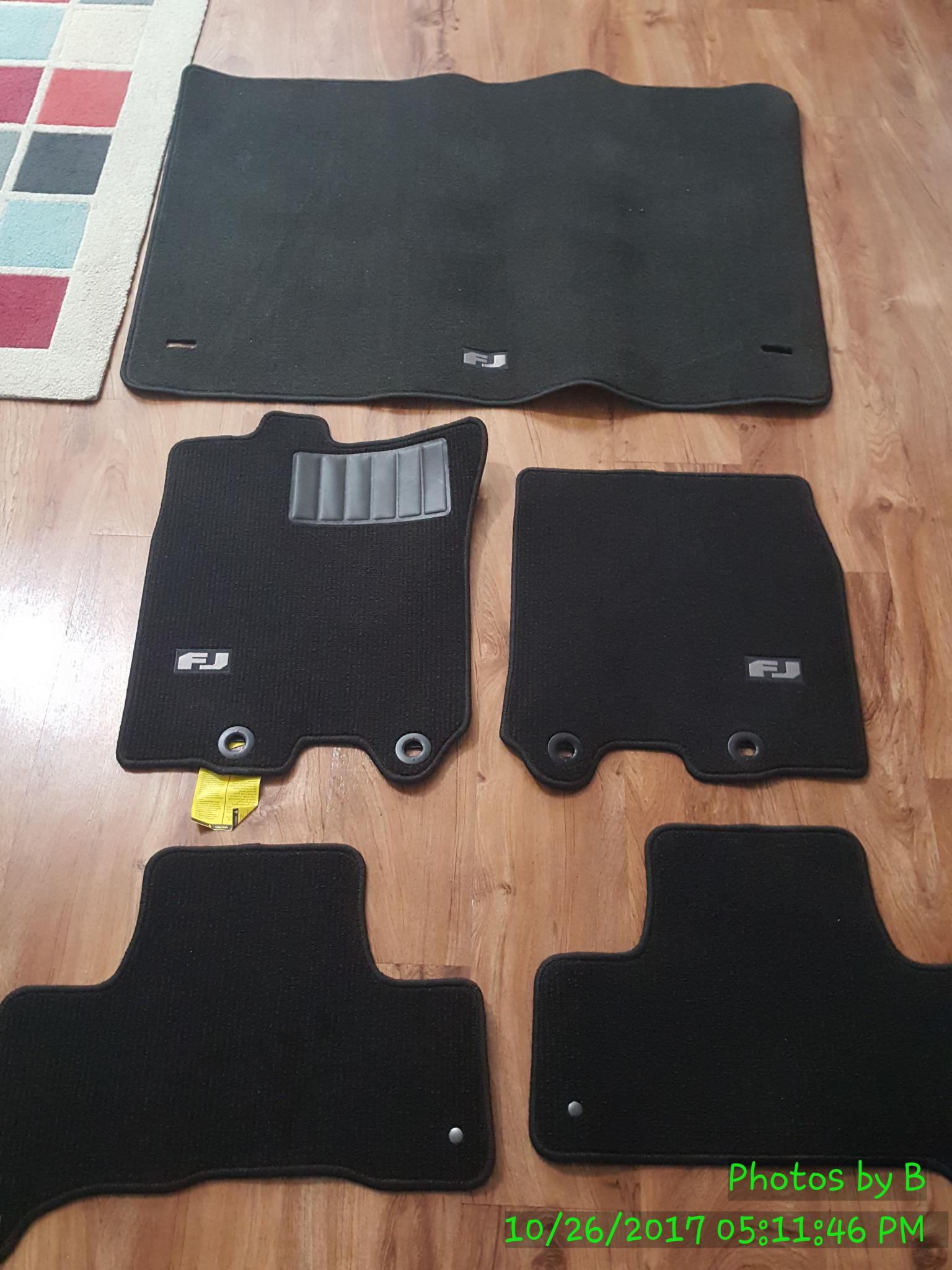 full set carpet floor mats in nola toyota fj cruiser forum. Black Bedroom Furniture Sets. Home Design Ideas