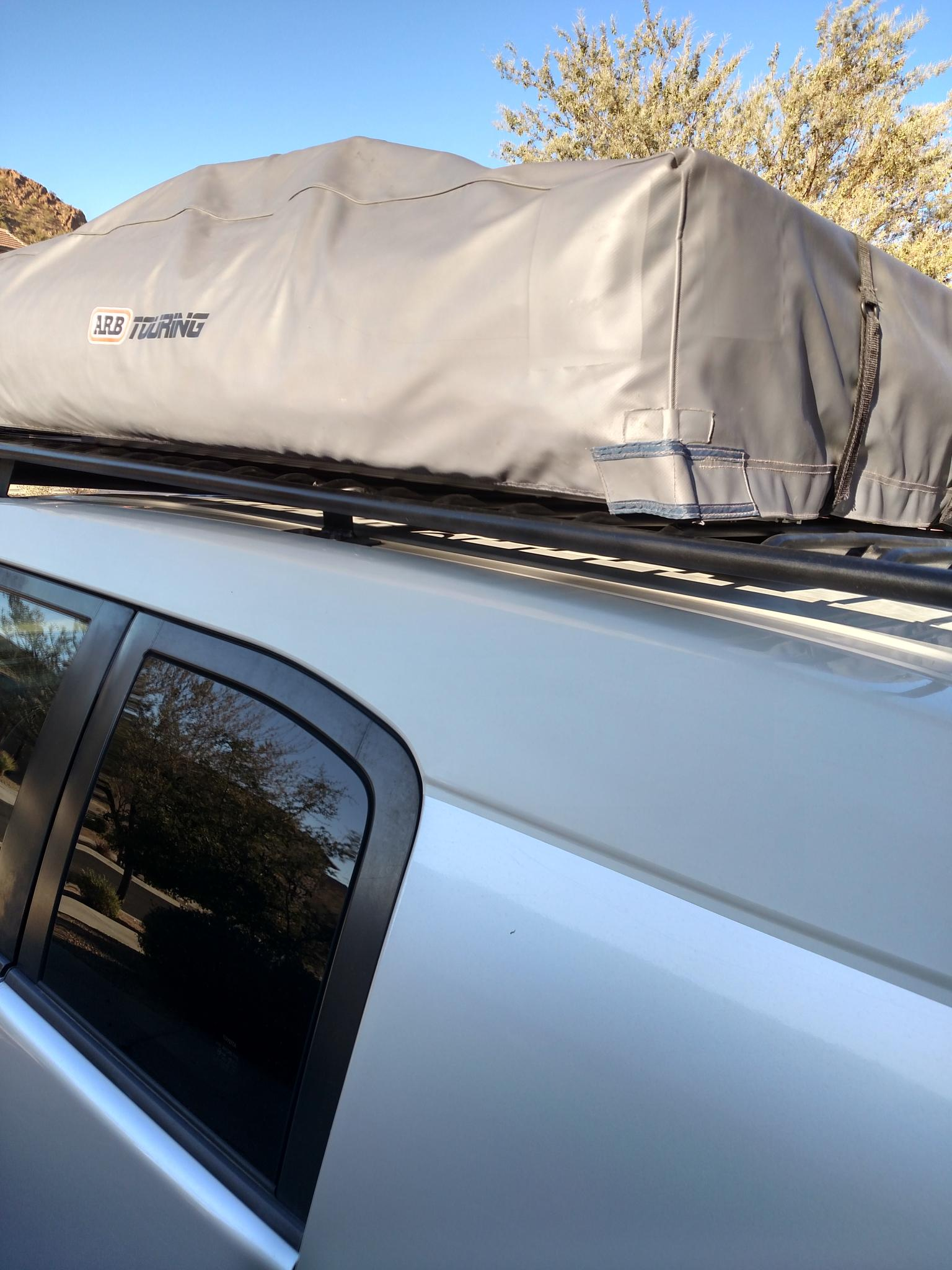 Rooftop Tent On Rhino Towers Crossbars Toyota Fj