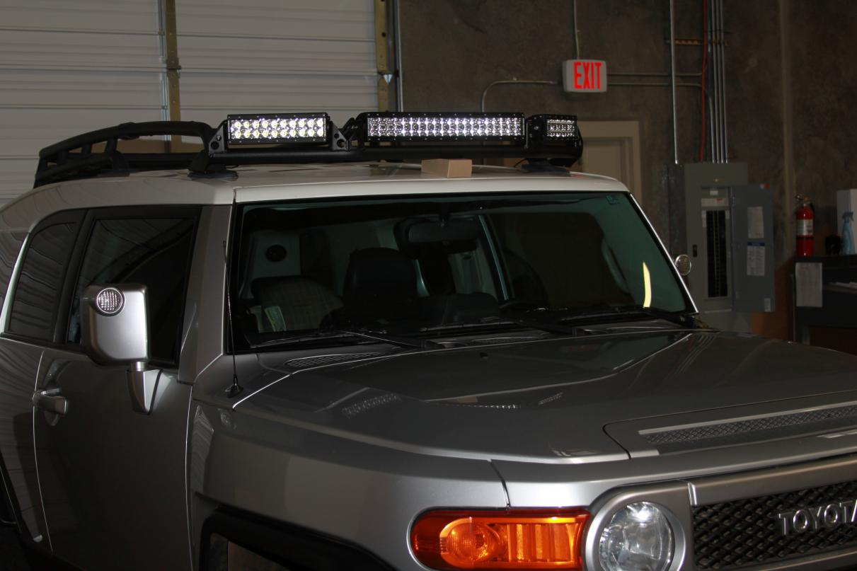 Rigid Industries Fj Cruiser Oe Factory Roof Rack Light Bar