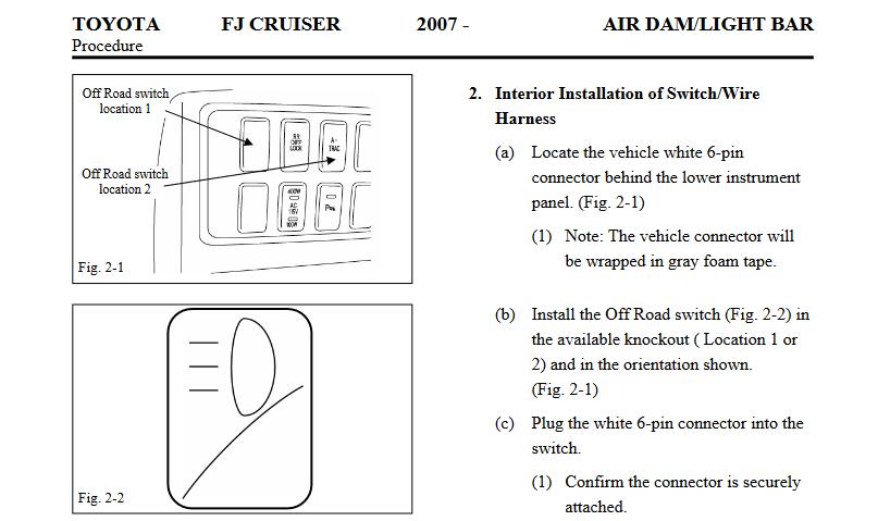 2014 fj cruiser wiring diagram tm schwabenschamanen de \u2022 Blue FJ Cruiser push switch panel toyota fj cruiser forum rh fjcruiserforums com 2014 fj cruiser electrical wiring diagram