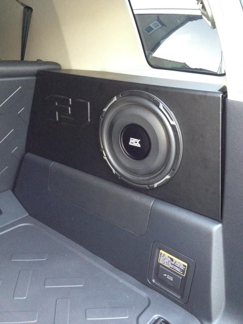 How To Build A Sub Box >> New audio system installed - Kenwood, Polk, MTX - Toyota ...