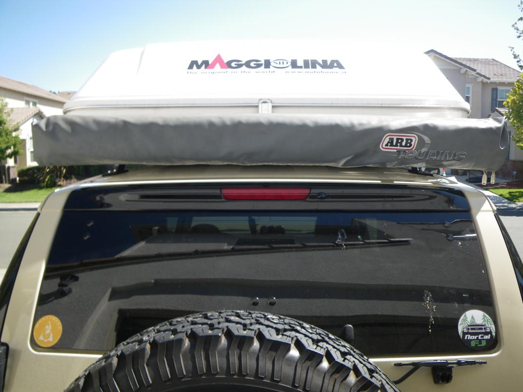 Stop sagging awning (baja flat rack & arb) - Toyota FJ ...