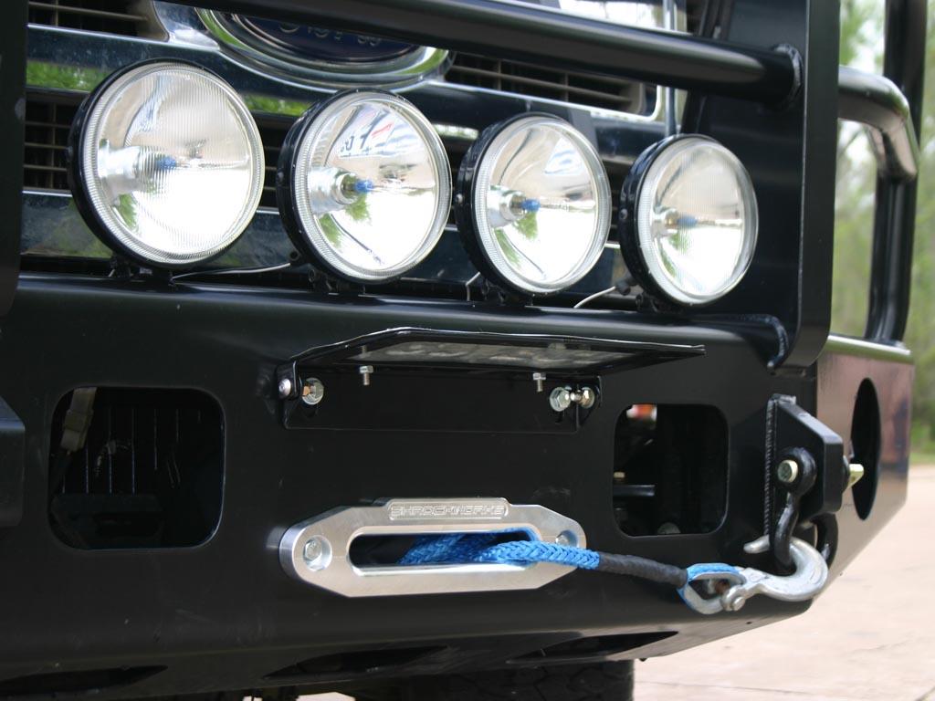 Click image for larger version Name ShrockworksLiscensePlate.jpg Views 223 Size 127.5 & Removable License Plate holder for Winch - Toyota FJ Cruiser Forum