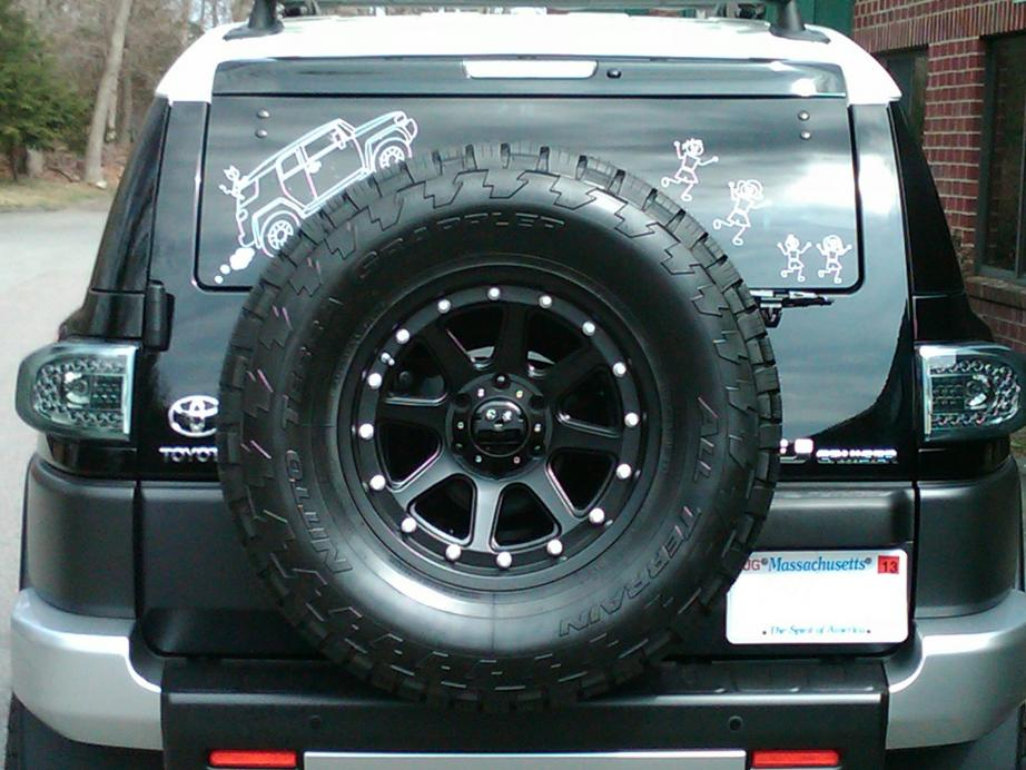 Lets See Your Rear Window Decals Page Toyota FJ Cruiser Forum - Truck decals for back window
