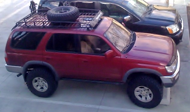 Toyota Fj Cruzer >> Spare on roof rack? - Toyota FJ Cruiser Forum